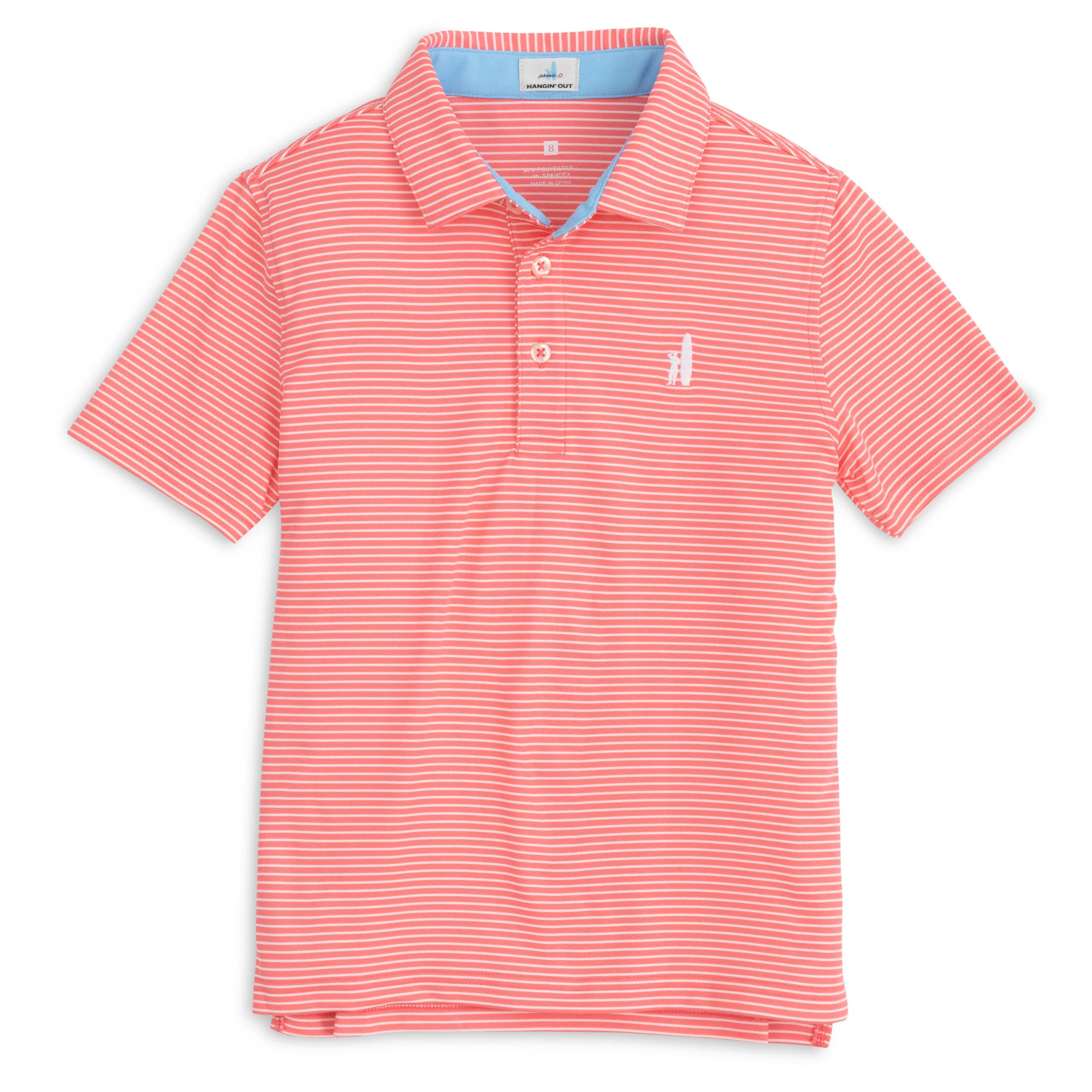 MERRINS JR STRIPED PREP POLO
