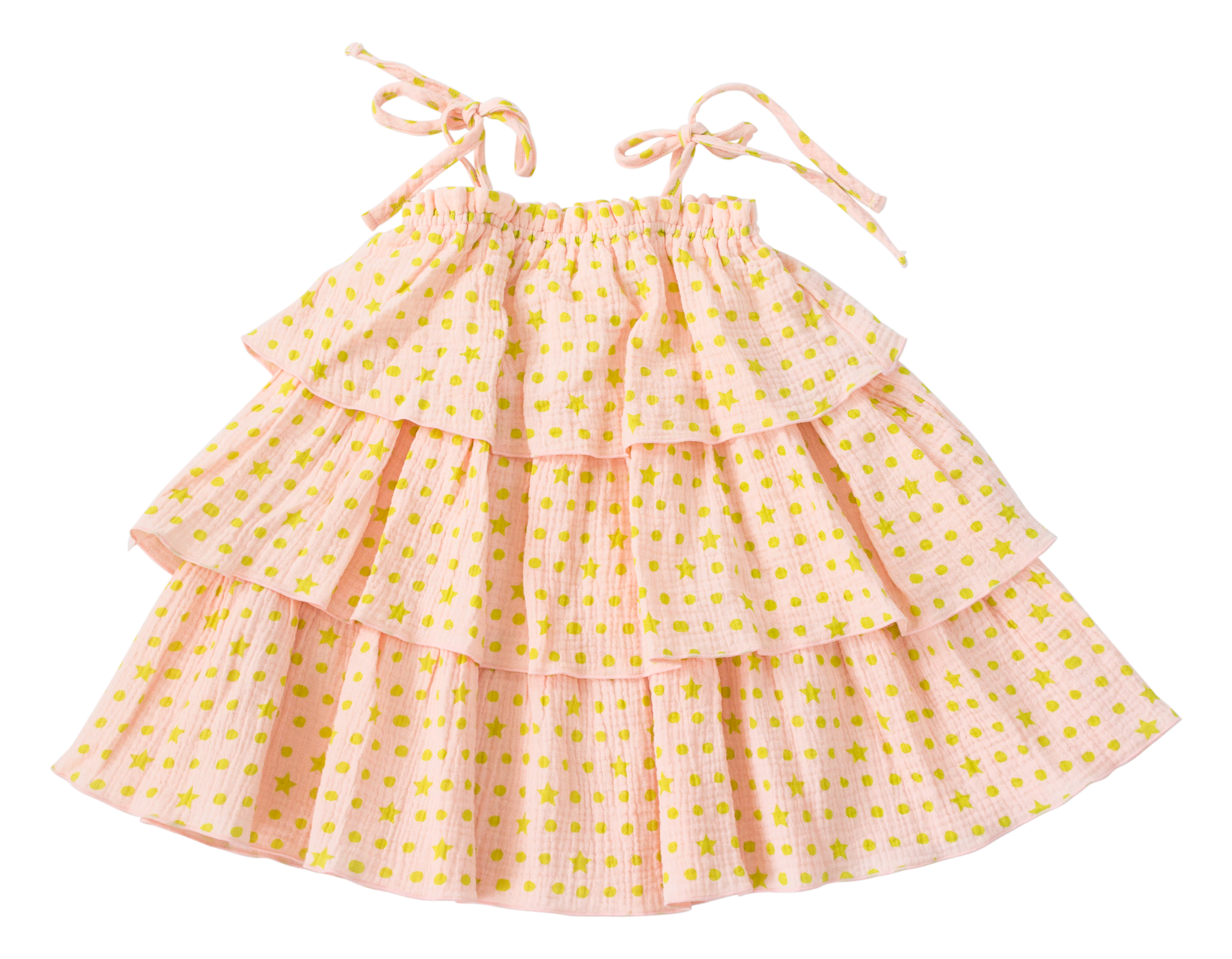 TIERED TILLY GAUZE DRESS