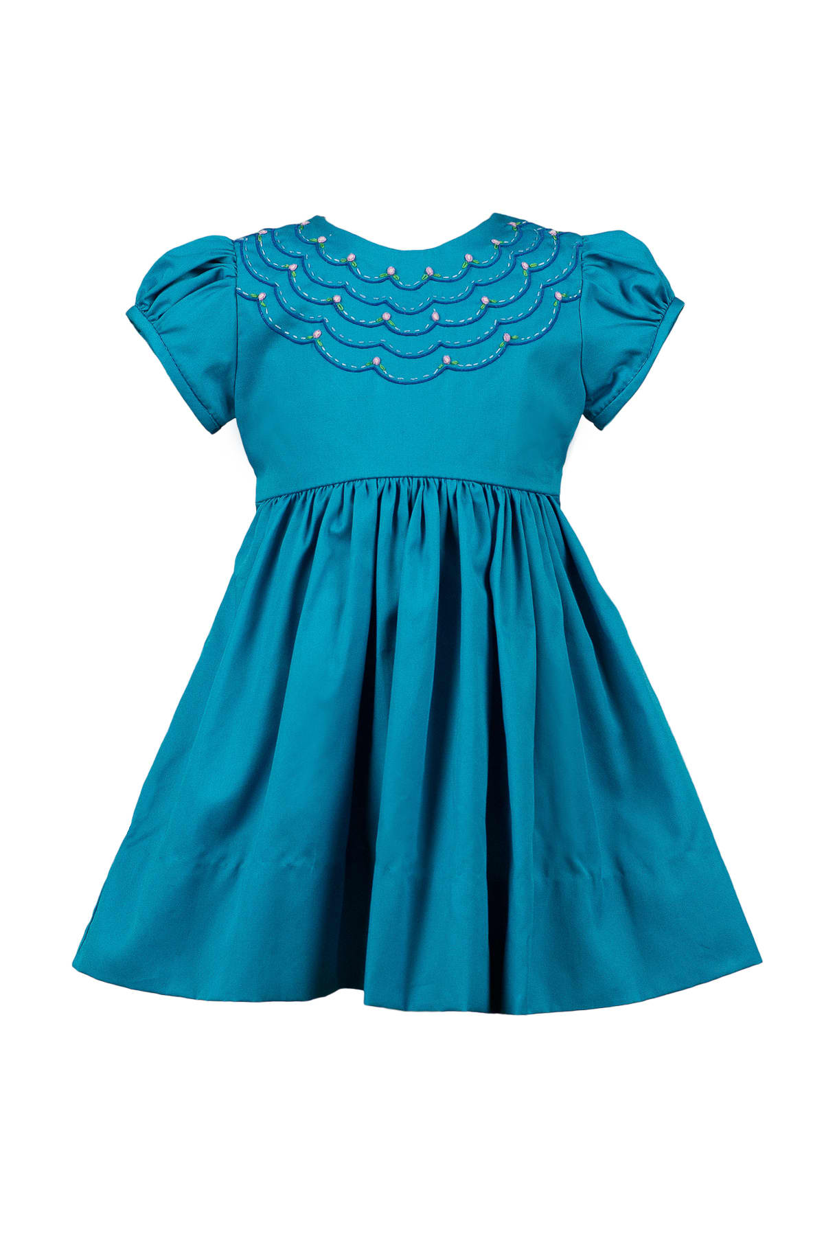 LONDON SCALLOPED DRESS
