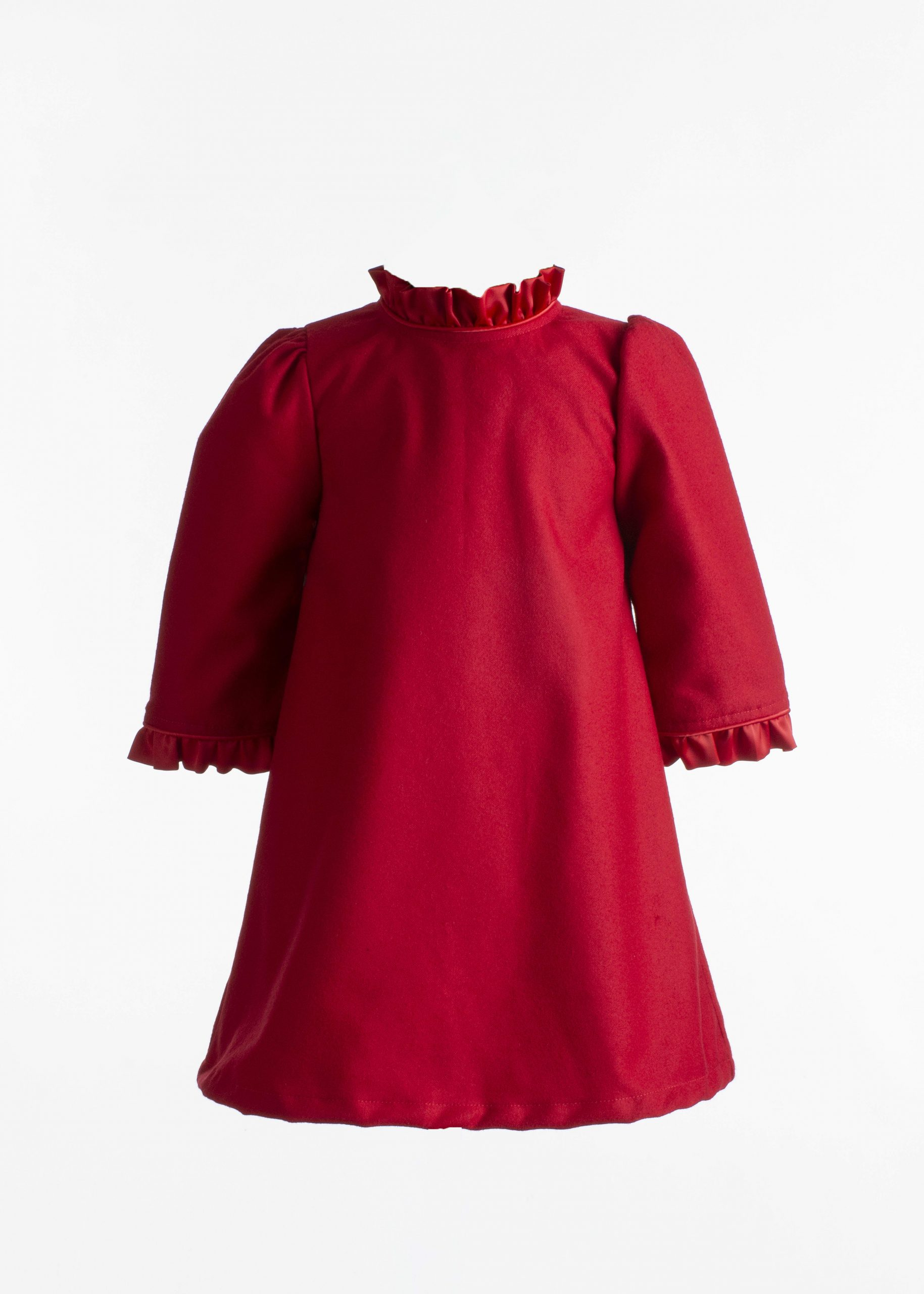 ADA RUFFLE SLEEVE DRESS
